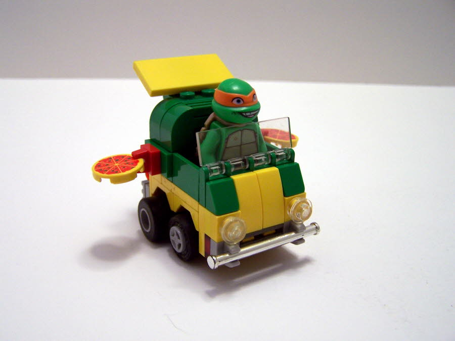 Mighty Micro Turtles Pizza Wagon Front